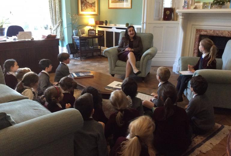 Interviewing our Headmistress