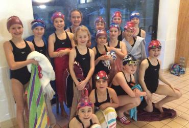 Belmont swimmers at Duke of Kent swimming event