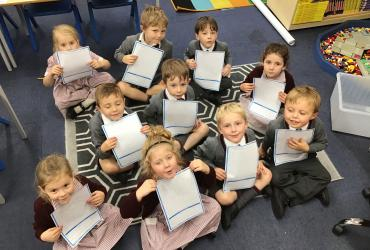 Year 1 with their acrostic poems